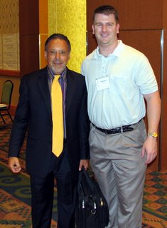 Damian Petrini with Jay Abraham at the Abraham Factor seminar in Anaheim, CA (May 6th, 7th, and 8th, 2006)